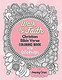 Walk by Faith Christian Bible Verse Coloring Book