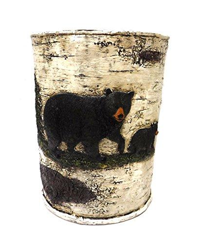 (Marco Black Bear bathroom Accessories (Wastebasket))