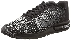 Nike Men's Air Max Sequent 2 Blackmtlc Hematite Dark Grey Running Shoe 11 Men Us