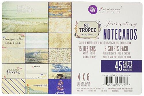 Prima Marketing St. Tropez 4x6 Journaling Cards