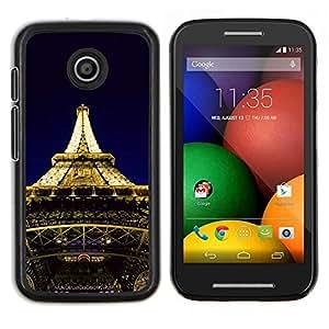 "For Motorola Motorola Moto E / XT1021 / XT1022 , S-type Arquitectura Torre Eiffel Luces"" - Arte & diseño plástico duro Fundas Cover Cubre Hard Case Cover"