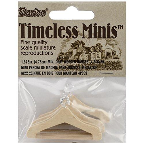 Darice Timeless Miniatures Coat Hangers (4/ Pack) (Darice Accessory Loops)