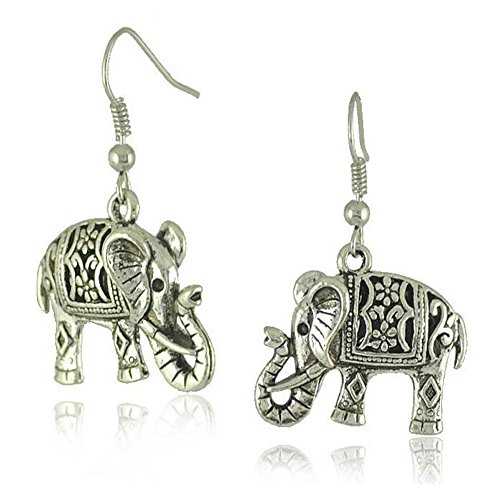 [Darkey Wang Women's Fashion Retro Double-sided Three-dimensional Hollow Carved Elephant Pendant] (Homemade Hulk Costumes Kids)
