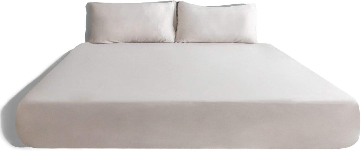 Coop Home Goods - Solstice Luxury Sheet Set - All Season - Hypoallergenic - Oeko-TEX Certified – Twin – Taupe