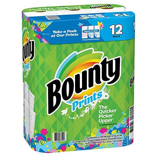 (Bounty Prints Design Durable Absorbent