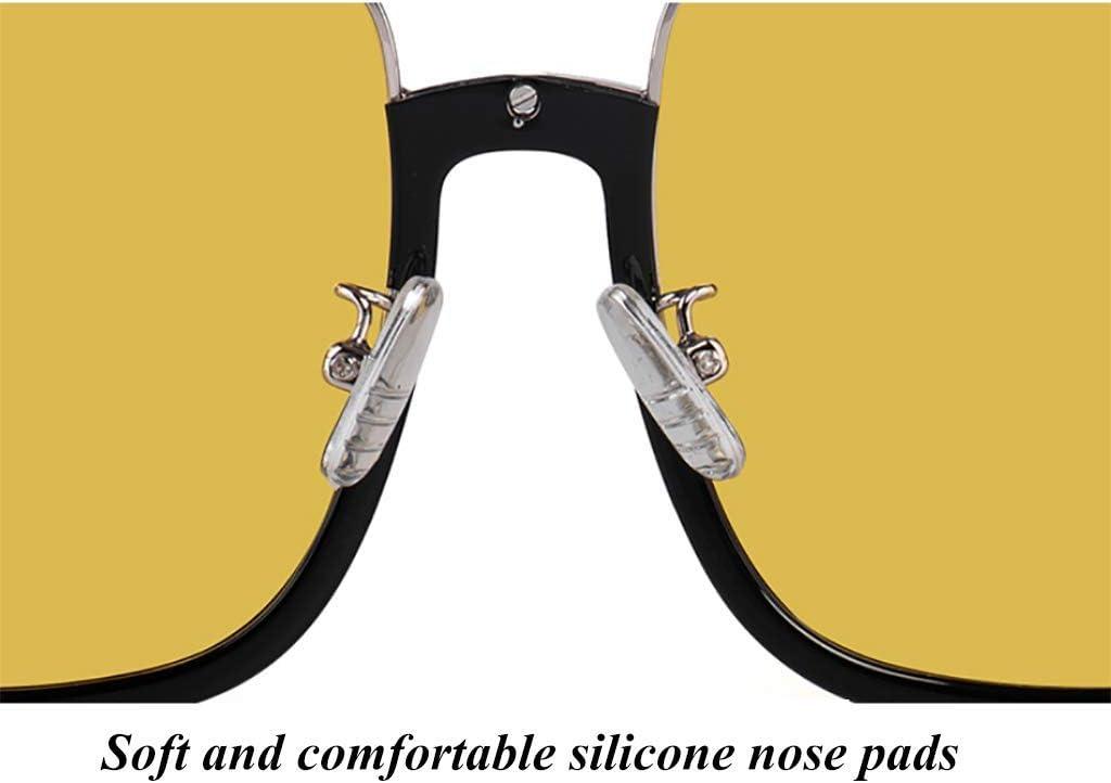 D/ía de la conducci/ón nocturna Gafas de los hombres de HD amarillo resina lente polarizada protectora de la lente y la noche Fotocrom/áticas conveniente for usar los vidrios por un c/ómodo y c/ómodo condu