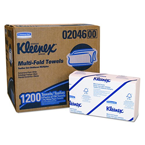 "Kleenex Ultra Towels (28791), Folded Hand Towels, 2-Ply, 8.5"" x 16.3"", 94 / Pack, 30 Packs / Case, 2,820 Paper Towels / Case by Kimberly-Clark Professional"