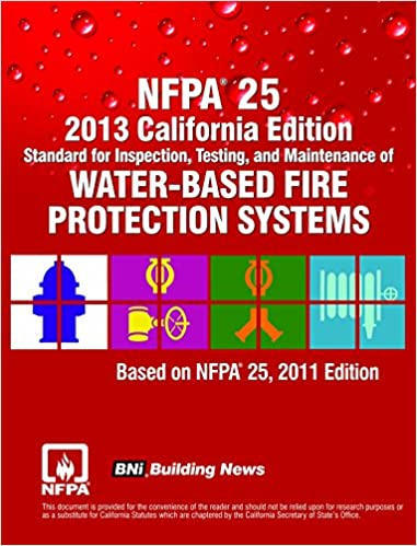 Nfpa 25 2013 California Edition Standard For Inspection Testing
