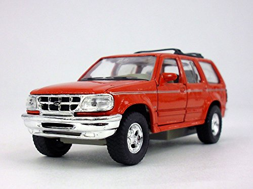 (4.75 Inch Ford Explorer Scale Diecast Metal Car Model by Welly - RED)