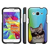 Cat Rainbow - Mobiflare Samsung Galaxy Prevail LTE Galaxy Core Prime Slim Guard Armor Black Phone Case