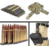USGI 30 Pack .223 5.56mm 10 RD Round Military Mil-Spec Reusable Easy Reload Stripper Clips Brass Insert, USA MADE + TACCAM Terrain Camo MOLLE Dump Ammo Magazine Pouch Drop Leg Dropleg