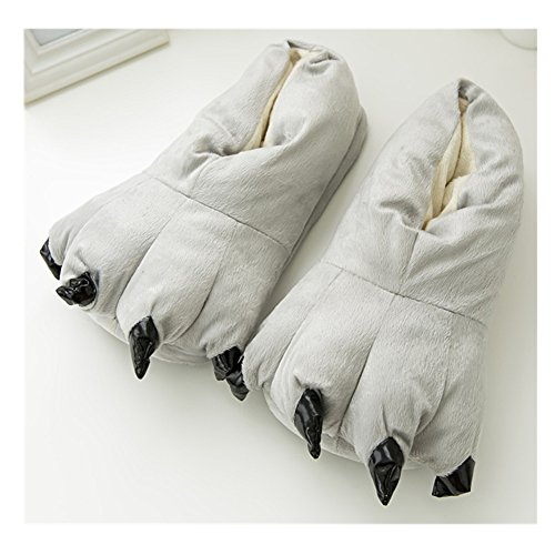 Unisex Cartoon Slippers Adult Smile Shoes Cosplay YZ Claw Animal Costume Indoor Dinosaur Paw Grey Children 5I8wUqw