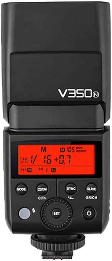 GODOX V350N TTL 2.4G 1//8000s HSS GN36 Camera Flash Speedlite with Rechargeable Li-ion Battery for Nikon Cameras