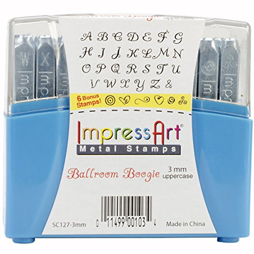ImpressArt Uppercase Stamp Set, 3mm, Ballroom Boogie