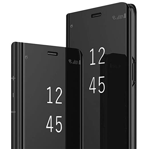 reputable site 5682d b0bf3 Mirror Case Compatible for Samsung Galaxy S8/S8 Plus,Hard PC Flip Stand  Protective Phone Cover for S9/S9 Plus