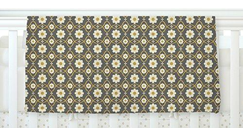 40 x 30 KESS InHouse Nandita Singh Floral Grey Brown Pattern Fleece Baby Blanket