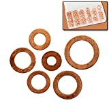 110pc Copper Washer Assortment Set - 6 Sizes - Automotive & Household Electrical Connections