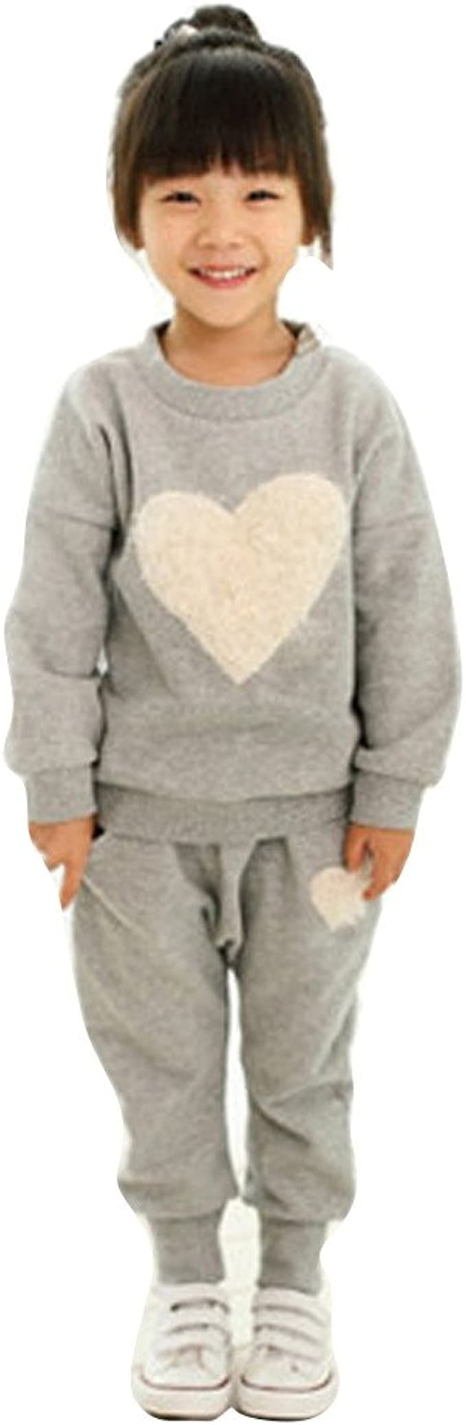 Toddler Baby Girl Clothes Sweatshirt Tops Pants Infant Outfits Sets Tracksuit US