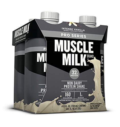 Muscle Milk Pro Series Protein Shake, Intense Vanilla, 4 Count by Muscle Milk