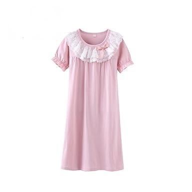 a9979493f625d マソンナーニ)Masonanic 子供 ネグリジェ 綿100% レース ナイトドレス 半袖 女の子 パジャマ ガールズ