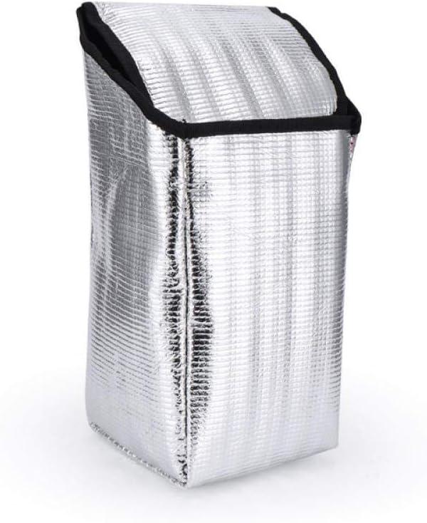 Zipvb Borse da Picnic Lunch Tote Cooler Thermo Food Bags Borsa da Pranzo Lavabile isolata Termica da Picnic con Tracolla per Ufficio Scolastico Picnic Gym Nero Red