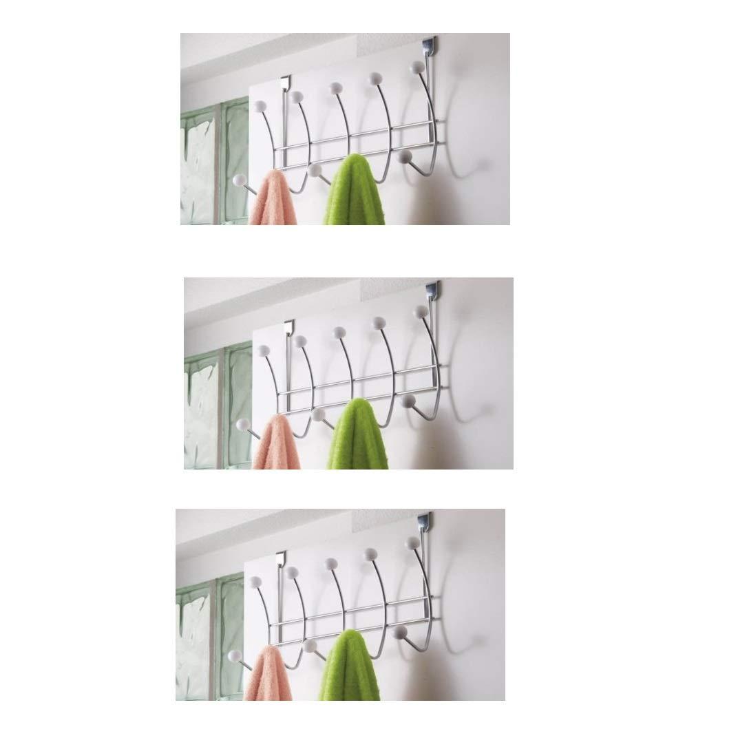 Türgarderobe Tür Garderobe 10 Haken Leiste Wandhaken Wand Kleider Kugeln Metall