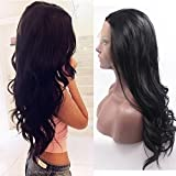 Fennell Long Body Wave Lace Front Wig Synthetic Black Wigs Heat Resistant Fiber Hair For Woman
