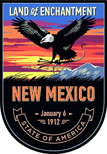 New Mexico State Animal - State animal New Mexico night 4x5.5 inches sticker decal die cut vinyl - Made and Shipped in USA