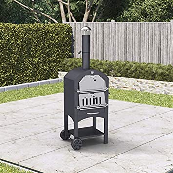 Bbq Pizza Oven.Billyoh Smoker Bbq Outdoor Pizza Oven Charcoal Grill Barbecue Black 50x156x37cm