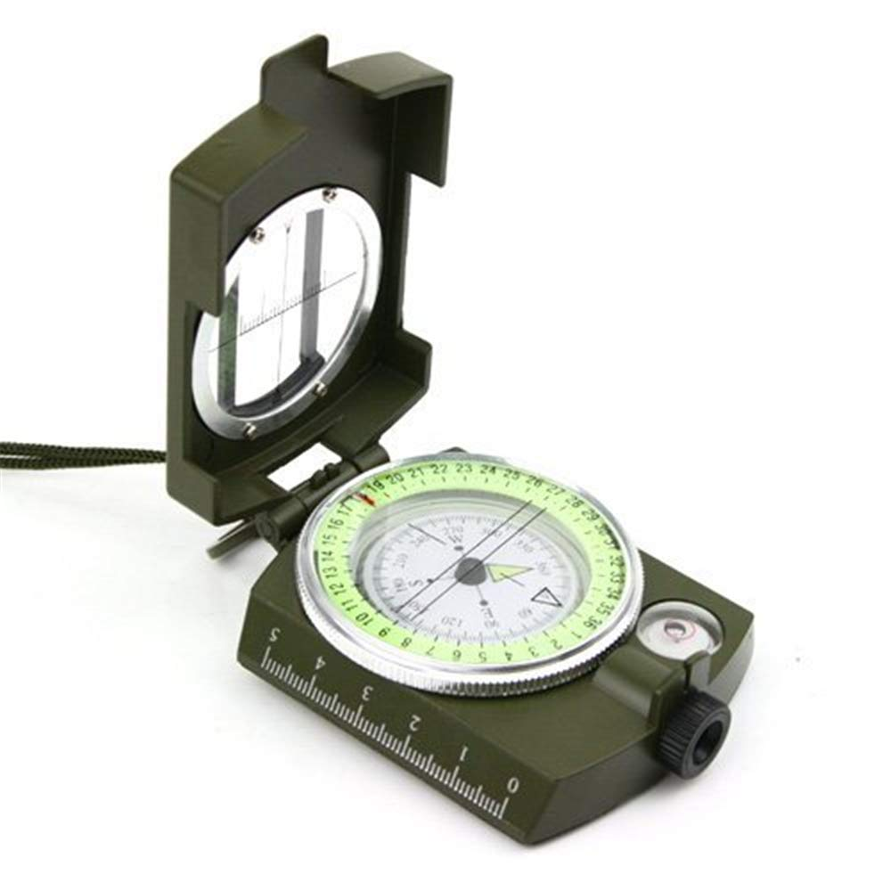 Amazing Military Lensatic Sighting Compass with Foldable Metal Lid Carrying Bag