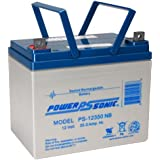 Powersonic PS-12350NB - 12 Volt/35 Amp Hour Sealed Lead Acid Battery with Nut-Bolt Connector