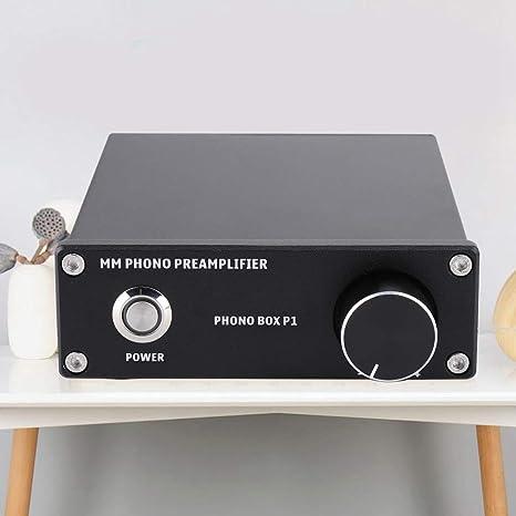 Lazmin Home Phono Preamp MM Pro-Vorverst/ärker mit Cinch-EIN- // Ausgang RIAA-Entzerrung und Lautst/ärkeregler # 2 DIN-Anschluss