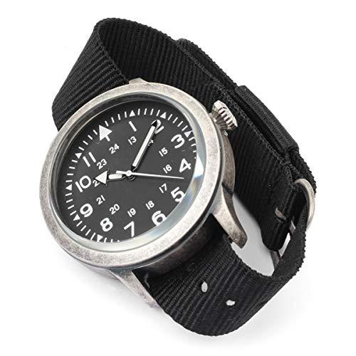 Black British Army Watch - Mil-Tec British Forces Army Style Stainless Steel Watch Military NATO Waterproof Nylon Strap Quartz Wristwatch