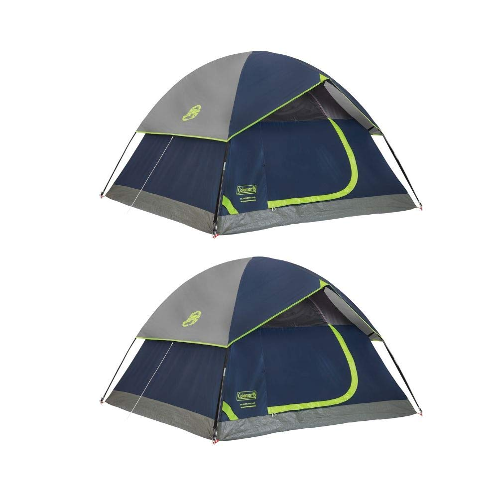 Coleman Dome Tent Navy, 3 Person 2 Pack