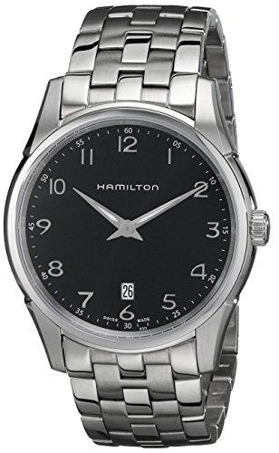 Hamilton Men's HML-H38511133 Jazzmaster Thinline Black Dial Watch