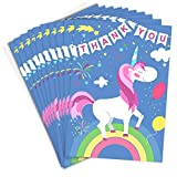Unicorn and Rainbow Thank You Cards - Folding Style with Envelopes (Pack of 10)
