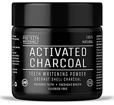 Activated Charcoal Natural Teeth Whitening Powder by Pro Teeth Whitening Co | Manufactured in England