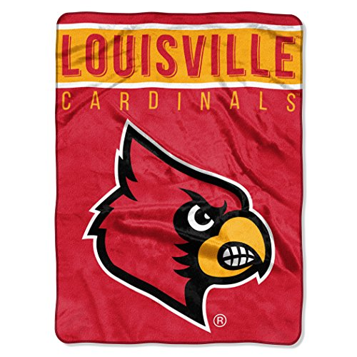 The Northwest Company Officially Licensed NCAA Louisville Cardinals Basic Raschel Throw Blanket, 60