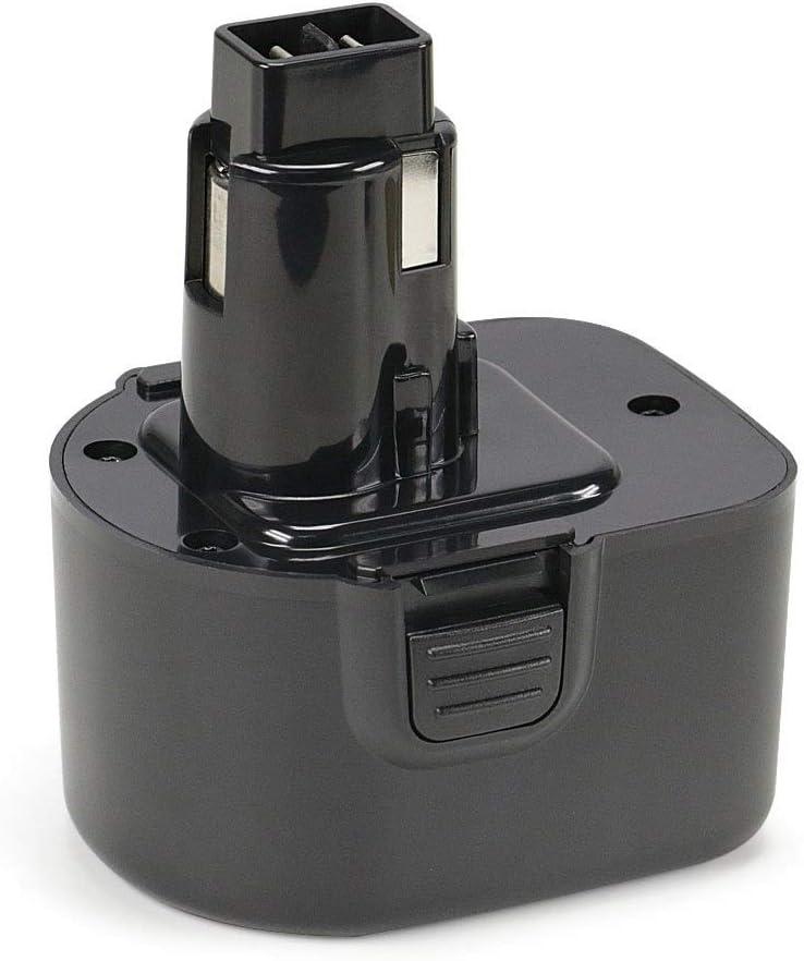 REEXBON 12V 3000mAh Batería de Repuesto NIMH para Black + Decker A9252 A9266 A9275 PS130 PS130A FS12 Dewalt DE9086 DE9274 DE9501 DW9071 DW9072 EZWA49 EZWA60 EZWA61 DC9071 DE9037 DE9071 DE9072 DE9074