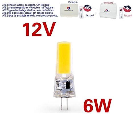 3W Bombilla 12V Atenuación 6W G9 220V G4 Lámpara ACDC LED q4ARjL53