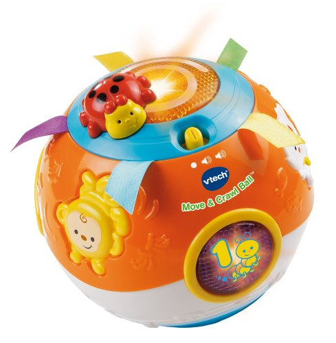 VTech Move and Crawl Baby Ball, Orange (Frustration Free Packaging)