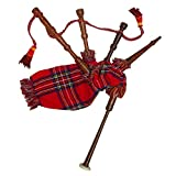 New Baby Mini Bagpipe Toy Playable Beginner Rose wood Royal Stewart Cover and Cord Free 2 Reed