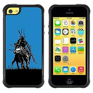 ZFresh Rugged Protective Case Cover Samurai In Fields - Apple Iphone 5C