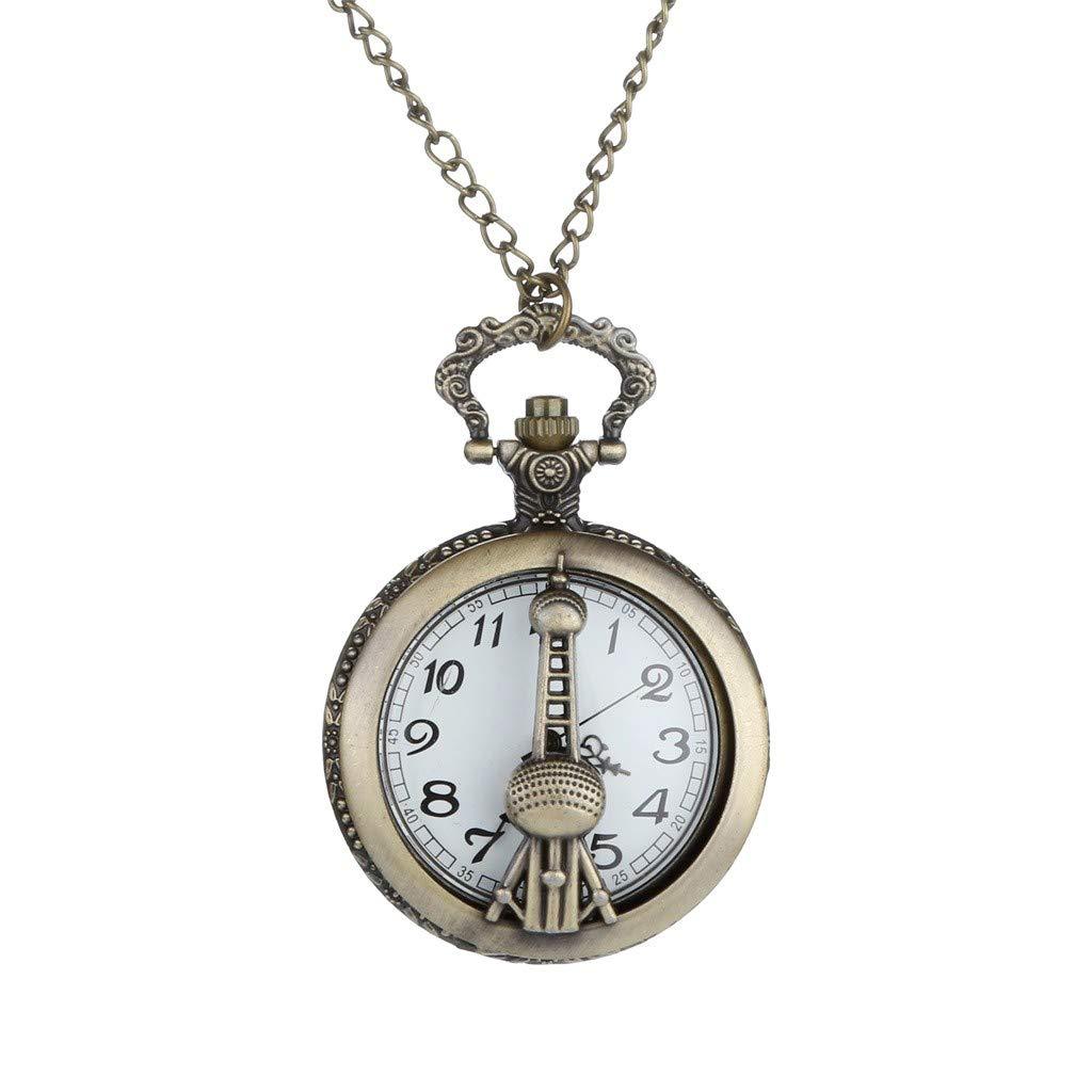 Zainafacai Personalized Pattern Steampunk Vintage Quartz Roman Numerals Pocket Watch