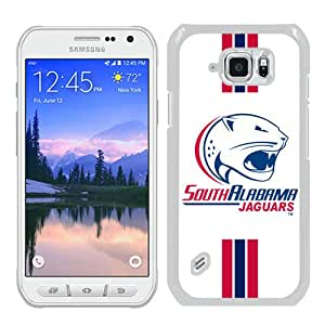Popular Samsung Galaxy S6 Active Cover Case ,Sun Belt Conference Football South Alabama Jaguars 5 White Samsung Galaxy S6 Active Case Hot Sale And Unique Designed Phone Case