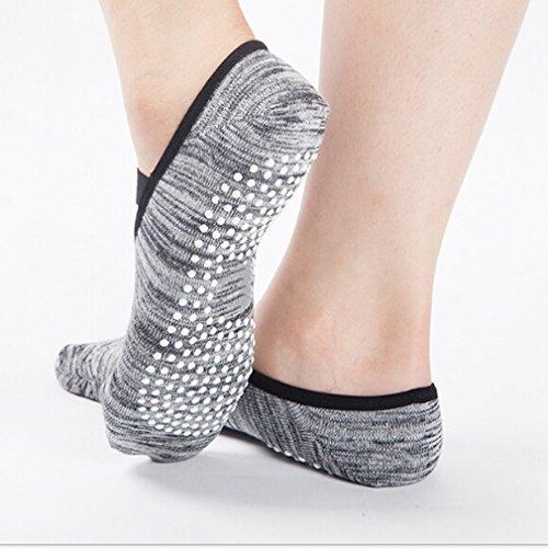 GUAngqi Yoga Socks Non Slip Skid Barre Ballet Pilates Grips Fitness Dance for Women,gray