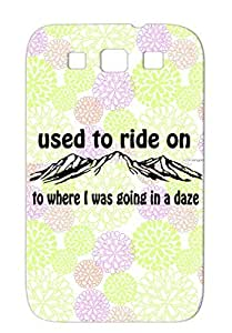 Anti-scuff TPU For Sumsang Galaxy S3 Wsp Animals Nature Panic Shirt Widespread Ride On Wp Stop N Go Tee Black To Mtns Case