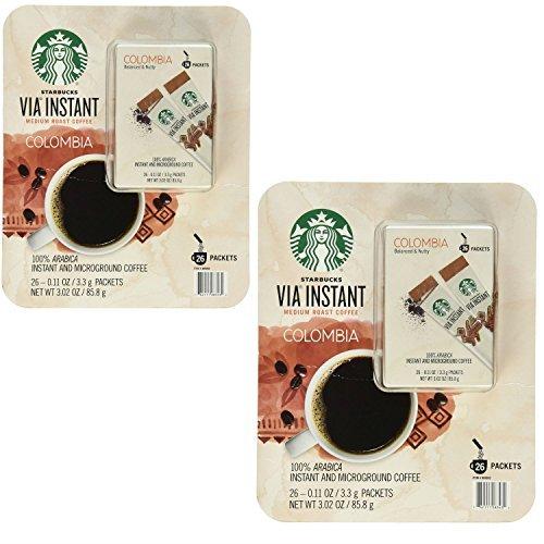 Starbucks Via Instant Medium Roast Colombia Coffee, 26 Count (2 Pack) (Medium Roast Starbucks Coffee compare prices)