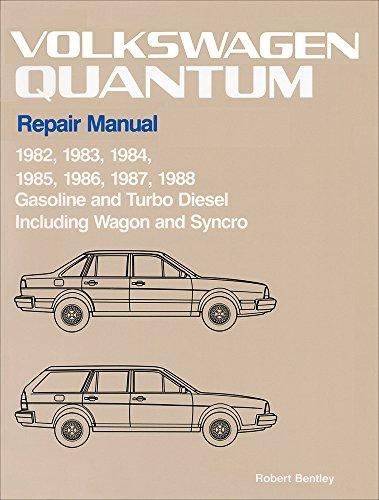 Volkswagen Quantum Repair Manual: 1982-1988