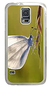 water proof Samsung Galaxy S5 covers White Butterfly Animal PC Transparent Custom Samsung Galaxy S5 Case Cover